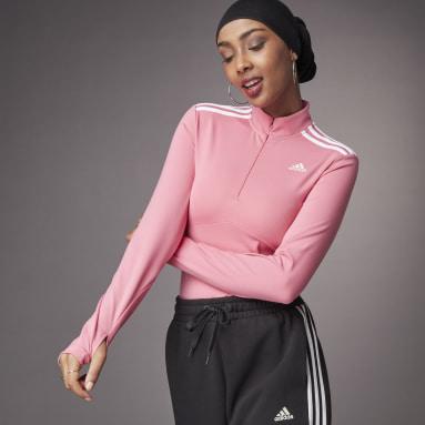 Playera Hyperglam Cierre Corto Rosa Mujer Sportswear