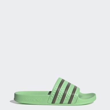Dames Originals groen adidas adilette Badslippers