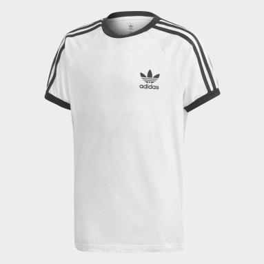 T-shirt3-Stripes Blanc Enfants Originals