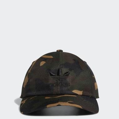 Men's Originals Green Relaxed Camo Trefoil Hat