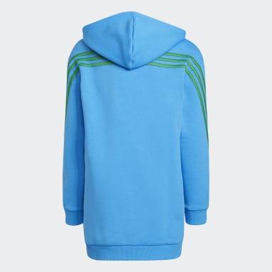 Sweat-shirt à capuche adidas x Classic LEGO® 3-Stripes Pocket Bleu Enfants Entraînement
