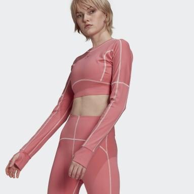 розовый Кроп-топ для йоги adidas by Stella McCartney TrueStrength