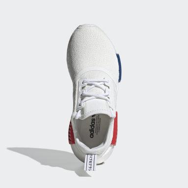 Kinder Originals NMD_R1 Refined Schuh Weiß