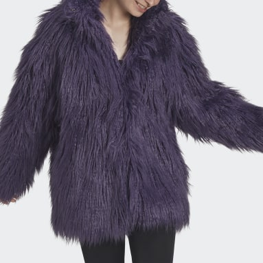 Women Originals Purple Fur Jacket