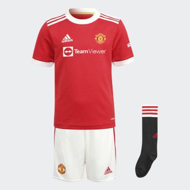 เด็ก ฟุตบอล สีแดง ชุดเหย้าสำหรับเด็ก Manchester United 21/22
