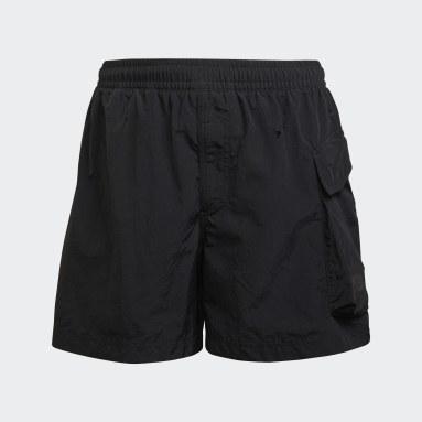 Men Y-3 Black Y-3 Utility Swim Shorts