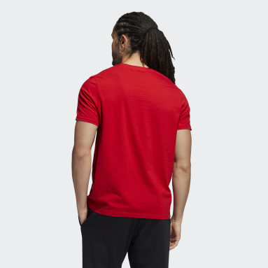 Men's Sportswear Red adidas Snowflake Winter Holiday Graphic Tee