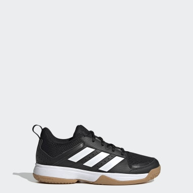 Youth 8-16 Years Table Tennis Black Ligra 7 Indoor Shoes