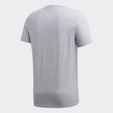 Men's Essentials Grey Badge of Sport Camo Tee