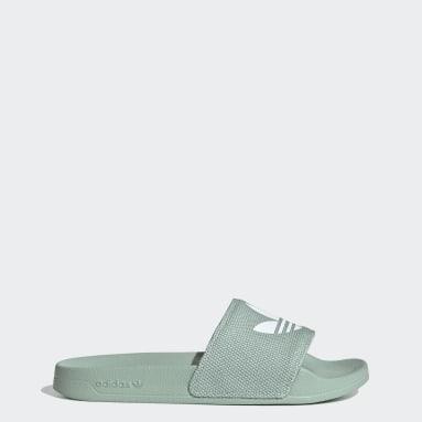 ผู้หญิง Originals สีเขียว รองเท้าแตะ Adilette Lite