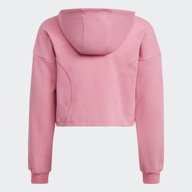 Camisola Curta com Capuz XFG Rosa Raparigas Ginásio E Treino
