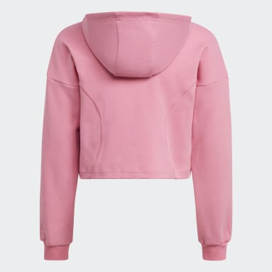 Sudadera con capucha XFG Regular Cropped Rosa Niña Gimnasio Y Entrenamiento