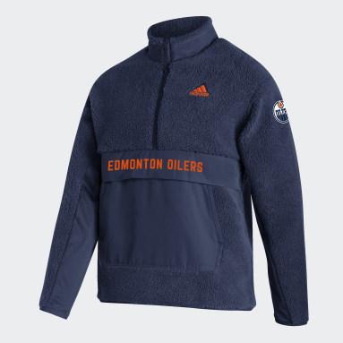 Haut Oilers Sherpa Fleece Bleu Hommes Hockey