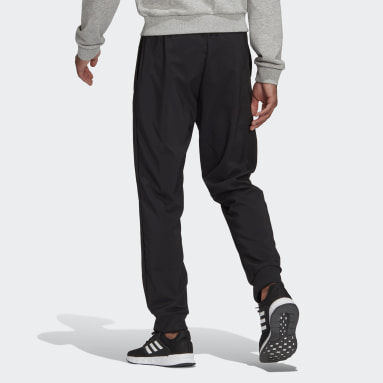Men's Essentials Black AEROREADY Essentials Stanford Tapered Cuff Embroidered Small Logo Pants