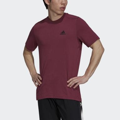 Men's Training Red AEROREADY Designed 2 Move Feelready Sport Tee