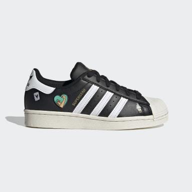 Kids Originals Black Superstar Shoes