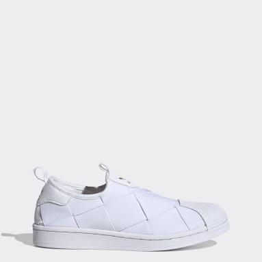 Women Originals White Superstar Slip-on Shoes