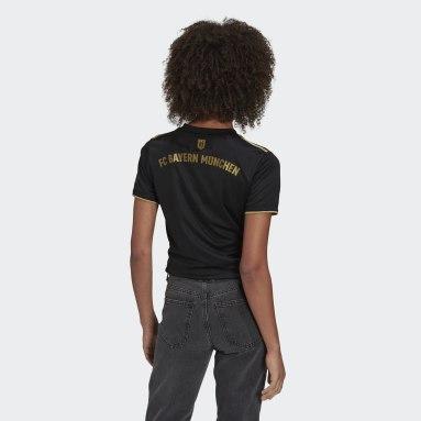 Camiseta segunda equipación FC Bayern 21/22 Negro Mujer Fútbol