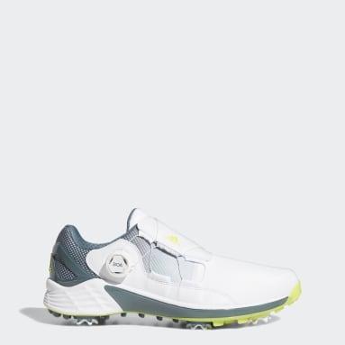 ผู้ชาย กอล์ฟ สีขาว รองเท้ากอล์ฟ ZG21 BOA
