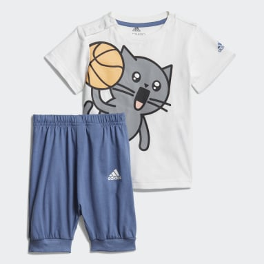 Boys Training White Cat Summer Suit