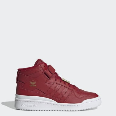 Kvinder Originals Rød Forum Mid sko