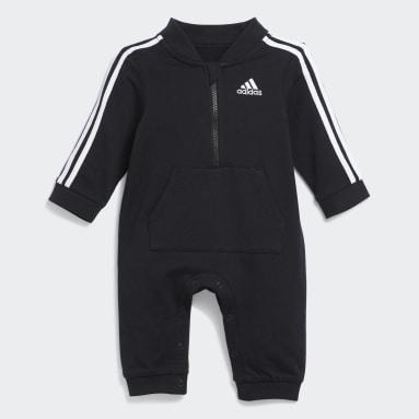 Infant & Toddler Training Black Track Suit Coveralls