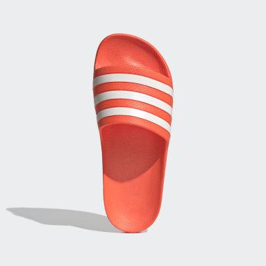 Women Swimming Orange Adilette Aqua Slides