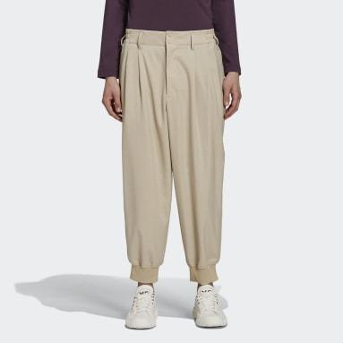 Pantalon Y-3 Classic Cuffed Marron Hommes Y-3