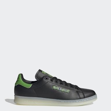 Men Originals Black Stan Smith Shoes
