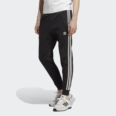 Men Originals Black Adicolor Classics 3-Stripes Joggers