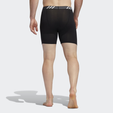 Men's Training Black Performance Mesh Boxer Briefs 3 Pairs (Big and Tall)