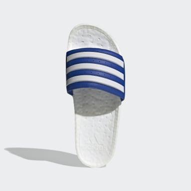 Swim สีน้ำเงิน รองเท้าแตะ Adilette Boost