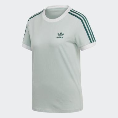 T-shirt 3-Stripes Verde Donna Originals