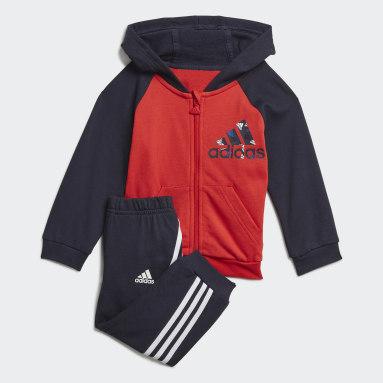 Tuta Badge of Sport Full-Zip Hoodie Rosso Bambini Fitness & Training