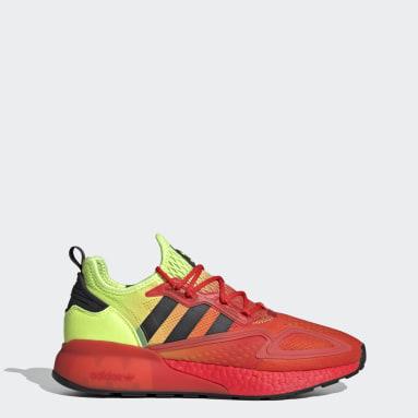 Women Originals Yellow ZX 2K Boost Shoes