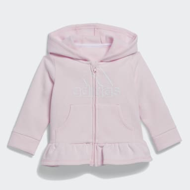 Infant & Toddler Training Pink Three-Piece Fleece Jacket Set