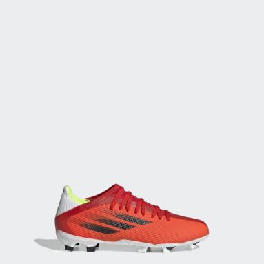 Botas de Futebol X Speedflow.3 – Piso Firme Vermelho Criança Futebol