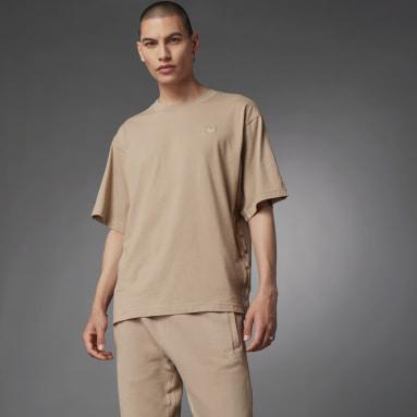 Men Originals Brown Blue Version Essentials T-Shirt