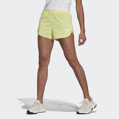 Zip-Up Shorts Żółty