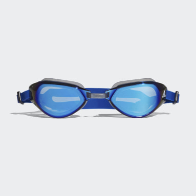 Simning Blå Persistar Fit Mirrored Simglasögon