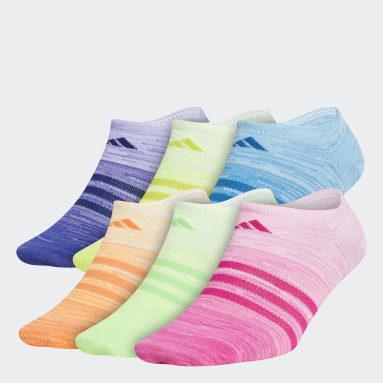 Children Training Multicolor Superlite Multi Space-Dye No-Show Socks 6 Pairs