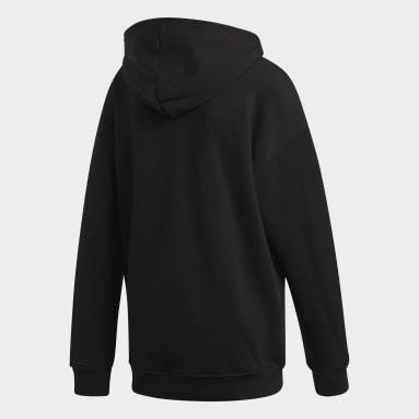 Polera con capucha adidas Adicolor Trifolio Negro Mujer Originals