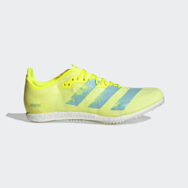Track & Field Yellow Adizero Avanti Spikes