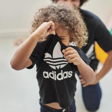 Děti Originals černá Tričko Trefoil