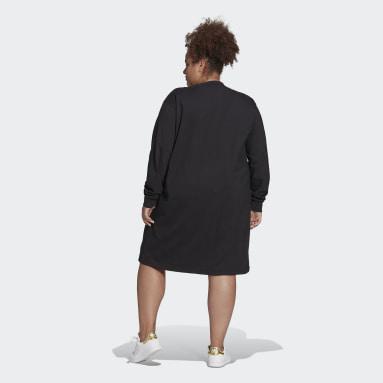 Frauen Originals Long Sleeve Kleid Schwarz