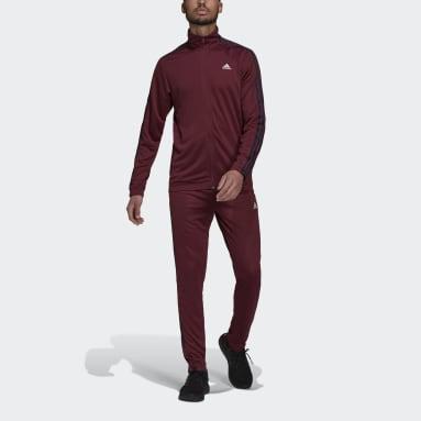 Herr Sportswear Burgundy adidas Sportswear Tapered Track Suit