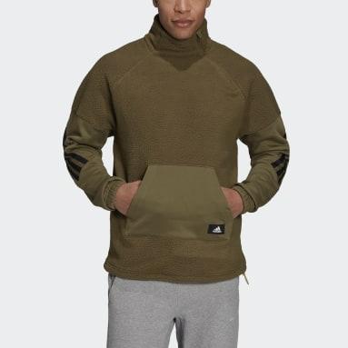 Männer Sportswear adidas Sportswear Future Icons Winterized Quarter-Zip Oberteil Grün