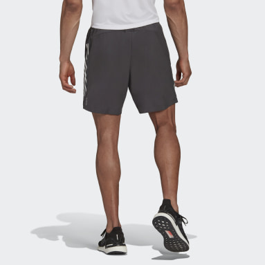 Männer Running Own The Run 3-Streifen Shorts Grau