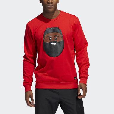 Men's Basketball Red adidas x LEGO® Crewneck James Harden