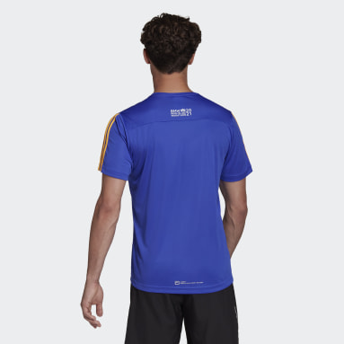 Berlin Marathon Finisher Tee Niebieski